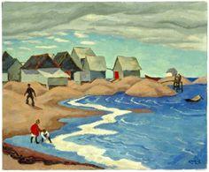 Edwin Holgate - Fish Houses - Natashquan P.Q.