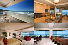Forget the decor and look at that view! Beachfront home in La Jolla, yes please!