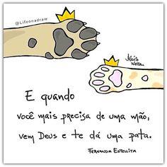 Life on a draw (Fernanda Estelita) Love Pet, I Love Cats, Animals And Pets, Cute Animals, Amor Animal, More Than Words, Humor, Pet Shop, Cat Lovers