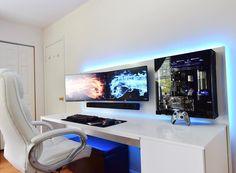 This blue LED makes this setup pretty beautiful.