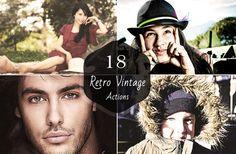 18 Premium Retro Vintage Photoshop & Elements Actions by Symufa