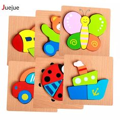 CUTEBEE Puzzle Wooden Variety Animal Puzzles Montessori Educational Toys for Children Kids Toy Gift Wood Puzzles Puzzle Montessori, Montessori Toys, Puzzles 3d, Wooden Puzzles, Wooden Jigsaw, Wooden Pegs, Toys For Girls, Kids Toys, Baby Toys