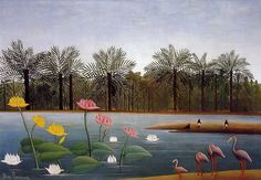 Henri Rousseau - The Flamingoes