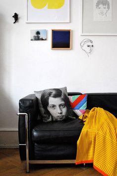 lc2 sofa und wandgestaltung