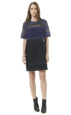Rebecca Taylor Patch Lace Dress
