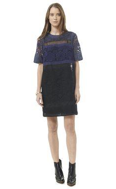Rebecca Taylor Patch Lace Dress