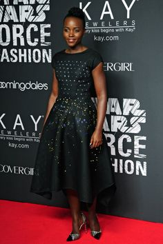 Lupita Nyong'o – Star Wars Force 4 Fashion There's no style Lupita Nyong'o hasn't tried and totally owned, even when that piece of fashion is a dress that comes with its own battery pack, like this design by Zac Posen filled with constantly changing, multi-colored LED lights.