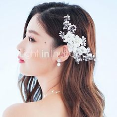 Women's Rhinestone / Crystal / Alloy / Fabric Headpiece-Wedding / Special Occasion / Outdoor Flowers / Barrette 2016 - $11.99