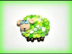 Магнитик-овечка Сувенир к новому году - YouTube