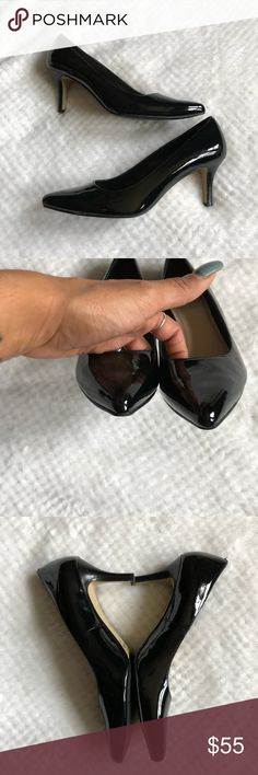 "Cole Haan Black Patent Heels 8.5 Very good condition. 3"" heel. Cole Haan Shoes Heels"