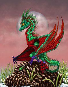 Cranberry Dragon Print by Stanley Morrison