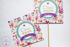 Pack papeleria cumple de 15. Invitaciones con sobre + stickers + toppers. www.milburbujas.com.ar // FB facebook.com/milburbujas.dg