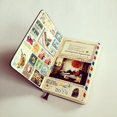 I like how old stamps and airmail envelopes can make any journaling insert look interesting...