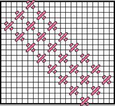 Mosaic Checker Decorative Stitch Diagram 1