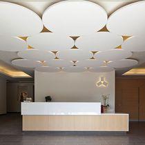 Faux-plafond en fibre minérale / en panneau / en îlot / acoustique Buero, Ceiling Panels, Ceiling Canopy, Ceiling Lights, Acoustic Wall, Acoustic Panels, Ceiling Detail, Ceiling Design, Turner House