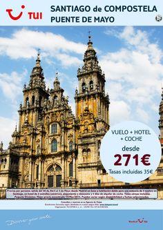 ¡Nuestra selección SMART a Santiago! Puente de Mayo Vuelo+Hotel+Coche. Precio final desde 271€ ultimo minuto - http://zocotours.com/nuestra-seleccion-smart-a-santiago-puente-de-mayo-vuelohotelcoche-precio-final-desde-271e-ultimo-minuto/