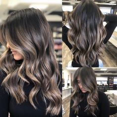 Long Wavy Ash-Brown Balayage - 20 Light Brown Hair Color Ideas for Your New Look - The Trending Hairstyle Brunette Color, Balayage Hair Brunette With Blonde, Ash Brown Balayage, Brunette Makeup, Warm Blonde, Blonde Wig, Baylage On Dark Hair, Balayage Hair For Brunettes, Hair Colour Ideas For Brunettes