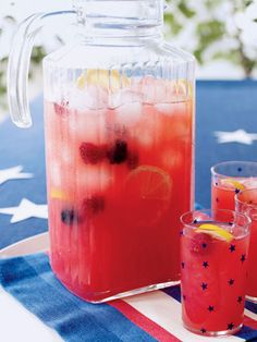 Take advantage of early-season fruit with our berry lemonade recipe. Just toss some blackberries or strawberries into your pitcher for this refreshing drink, or add muddled mint for an alternative twist.