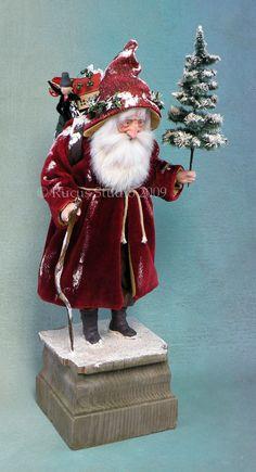 Rucus Studio Santa dressed in antique velvet © Rucus Studio 2009 Primitive Santa, Primitive Christmas, Primitive Crafts, Country Christmas, Christmas Past, Father Christmas, Christmas Holidays, Christmas Christmas, Victorian Christmas