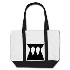Evil Black Cats Tote Bags
