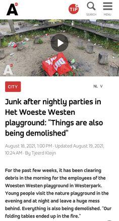 Young People, Playground, Amsterdam, The Past, News, Children Playground, Outdoor Playground