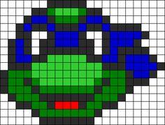 Leonardo Ninja Turtle Perler Bead Pattern / Bead Sprite