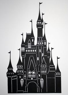Cinderella's Castle Papercut by CartaVitaStudio on Etsy