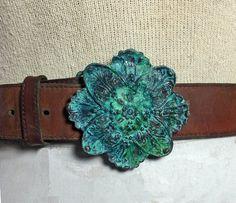 Vintage Floral Brass Patina belt buckle by handmadebychloed. Explore more products on http://handmadebychloed.etsy.com