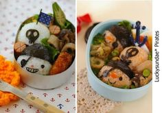 Pirate bento! too funny!