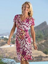 Flowers are Blooming Print-Cowlneck Dress | Bedford Fair#