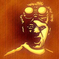 Dr. Horrible pumpkin carving template. Oh yeah!