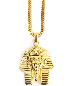 Mens necklace gold hand grenade pendant stainless steel pendant the gold gods pharaoh head gold necklace aloadofball Images
