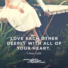 """""""Love each other deeply with all of your heart."""" 1 Peter 1:22b #MarriageVowRenewal"""