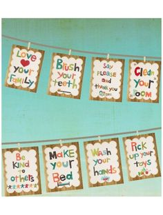 I like these manners cards. nice idea.