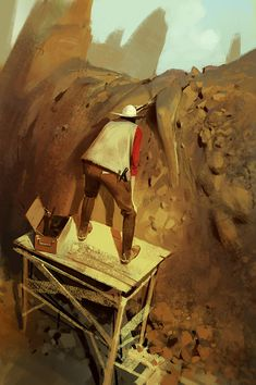 Surreal and satirical concept art by Sergey Kolesov. Those of you who don't know Sergey Kolesov yet, you definitely have to check out his amazing Character Illustration, Digital Illustration, Painting Inspiration, Art Inspo, Sergey Kolesov, Art Anime, Cg Art, Le Far West, Painting & Drawing