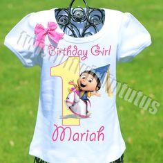 Dispicable Me Agnes Birthday Shirt