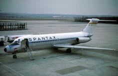 EC-CGY  Douglas DC-9-14 Spantax at Basel/Mulhouse MArch 1980. Photo by Eduard Marmet.