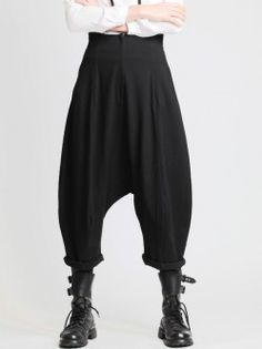 KNIT LOW-CROTCH TROUSERS