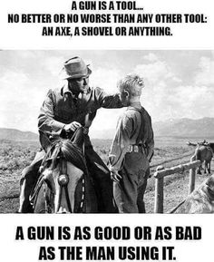 Good or as Bad as the man (OR woman using it)-and since I saw this movie last night-Now I have to pin the guns that were used in 1953 to create this classic film. but I remember this scene! Gun Rights, Gun Control, 2nd Amendment, Guns And Ammo, Way Of Life, Firearms, The Man, Just In Case, At Least