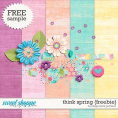 Quality DigiScrap Freebies: Think Spring mini kit freebie from Blagovesta Gosh...