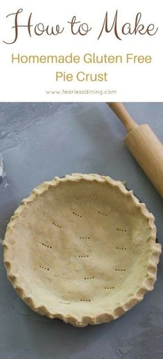 How to make the best homemade gluten free pie crust, EVER. This flaky gluten free crust recipe is perfect for both sweet and savory pies. Simple gluten free pie crust recipe. This crust recipe also freezes well! via @fearlessdining
