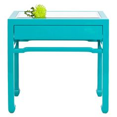 Also love this table in the turquoise color: Worlds Away Nightright Turquoise Side Table WANIGHTRIGHTTU