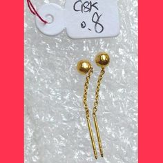 For sale:  Chinese #Gold #Earrings  More #Jewelry displayed at  FB.com/KatrinasClothingShop  #shoppingPh #onlineShoppingph #onlinesellerPh #onlinestore #onlinestoreph #katrinasclothing #jewelryph #accessoriesph #jewelries #jewelriesph #earringsph  Message us at  FB.com/KatrinasClothingShop