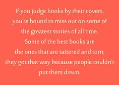 never judge a book by its cover speech