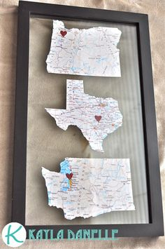 Pinterest Challenge: Map Art | Kayla Danelle