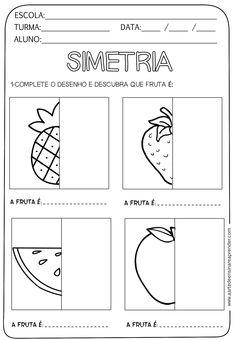 Resultado de imagem para atividades de artes simetria