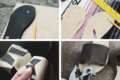 full instructions here DIY Leather Sandals @themerrythought