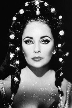 """Elizabeth Taylor in """"Dr. Faustus"""", directed by Richard Burton and Nevill Coghill, 1967, photo by Nevill Coghill."""