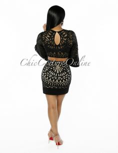 Chic Couture Online - Athens Black Nude Bell Sleeves Two Piece Set, (http://www.chiccoutureonline.com/athens-black-nude-bell-sleeves-two-piece-set/)