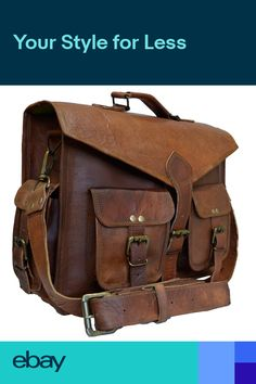 Vintage Briefcase Satchel Soft Leather Laptop Messenger Bag Shoulder New Brown Leather Messenger Bag, Leather Briefcase, Leather Satchel, Leather Handbags, Men's Leather, Brown Satchel, Laptop Messenger Bags, Backpack Bags, Laptop Briefcase